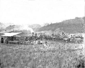 Grain threshing, Oregon