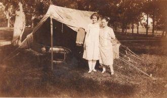 Mrs. Coats and Ethel Hopkins