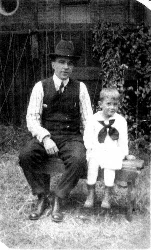 John Joyce Kleaver, Jr. with his father John Joseph Kleaver, Sr.