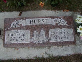 Paul Otis Hurst & Zora Pickering