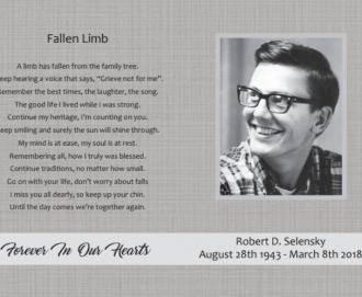 Robert Delane Selensky Obituary