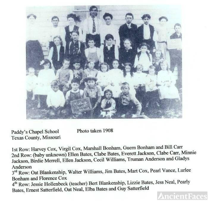 Paddy's Chapel School (Jess & Oatley Neal 1908)
