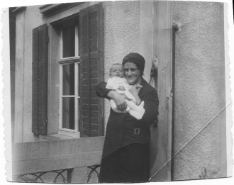 Karl with his mother