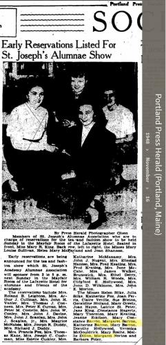 Margaret Theresa Barron--Portland Press Herald(16nov1948)