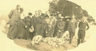 George W. Carr's Funeral, Sheeks Cemetery