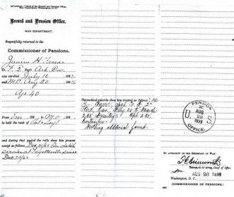 Junius H Farrar Service Record