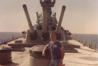 Wayne A. Ekblad aboard the U.S.S. New Jersey