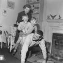 Jack Hawkins with 2 of his 4 children.
