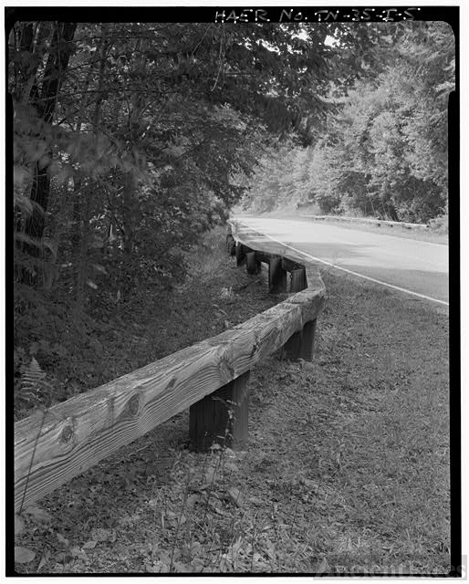 5  Timber guardrail and roadway looking NW  - Great Smoky