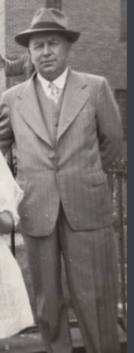 Charles J Connell--at 1st communion for daughter Mary Elaine Connell- 24 may 1952