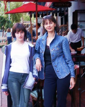 Julia and Oksana in Santa Barbara, CA