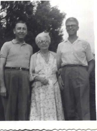 Richard, Harold, & Florence (Spring) Fink, Ohio 1960