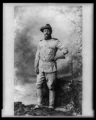 [Colonel Theodore Roosevelt, in uniform, full-length...