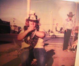 Daryla F (Luinstra) Fisher, rattler hunt