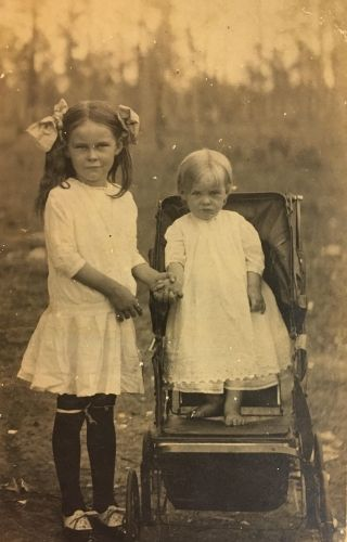 Unknown girl and baby