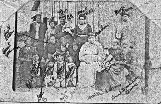 John Baptist Bruno and Mary Rhodd family