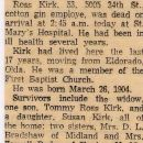 Obituary Notice of Ross Kirk