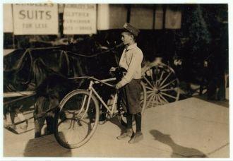 Twelve year old messenger #7. Edison Green. Works on day...