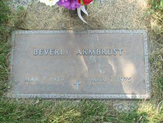 Beverly Joyce (Hetzel) Armbrust Gravesite