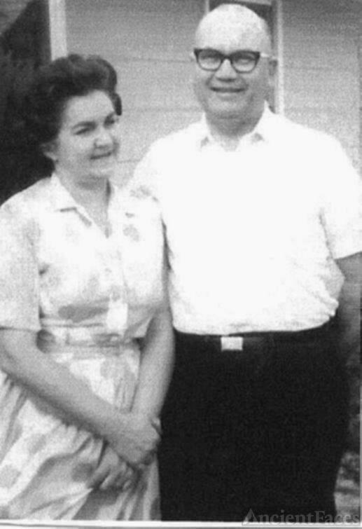 Cora and Hubert Collins in June of 1967