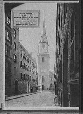 Signal lanterns of Paul Revere