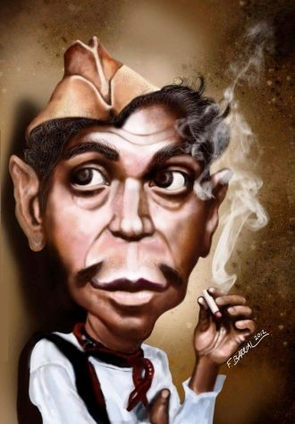 """""""Cantinflas"""" Caricature"""