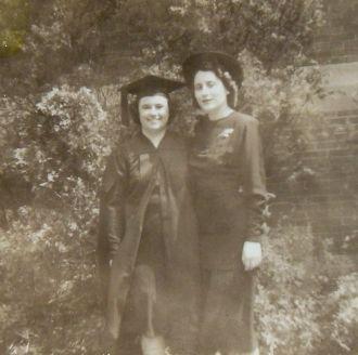 Natalie Nason and Doltie Burton, 1948