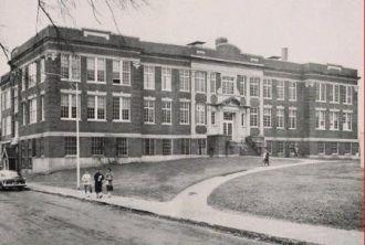 The former Amesbury High School