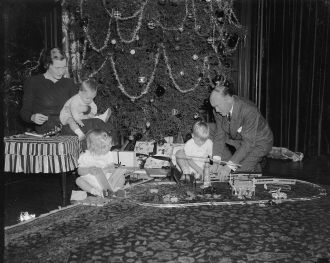 Harry H. Woodring Family 1937 - Christmas