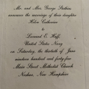 Wedding invitation 1945