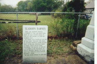 The Tombstone of Seaborn Barnes, One of Sam Bass's Gang Members