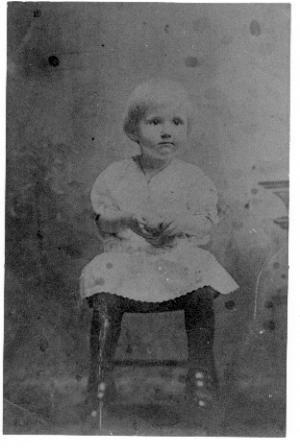 Juanita  Jordan as a child
