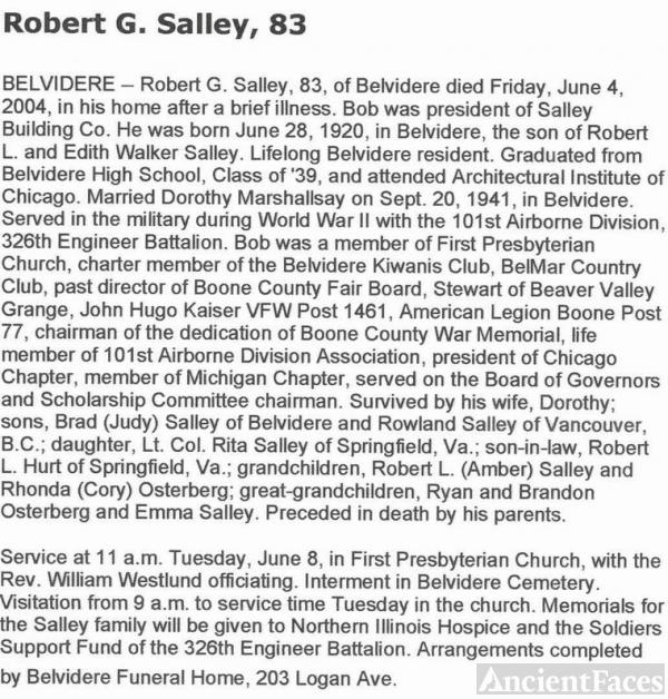 Robert Salley Obituary
