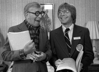George Burns and John Denver - Oh God behind the scenes