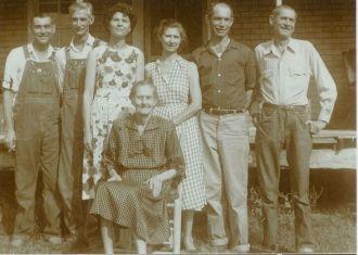 A photo of Ruth M (Pierce) Carte & Children