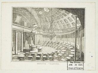 Senate Chamber / P. Haas, lithographer.