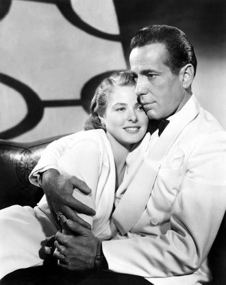 Ingrid Bergman and Humphrey Bogart