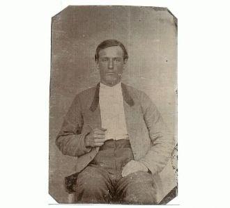 tin type photo of Ben Pedigo