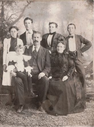 Herschel Springfield Harkins and Family, 1897
