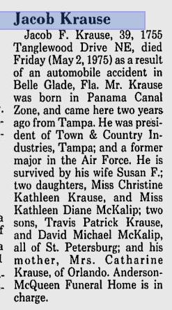 Jacob Krause obituary