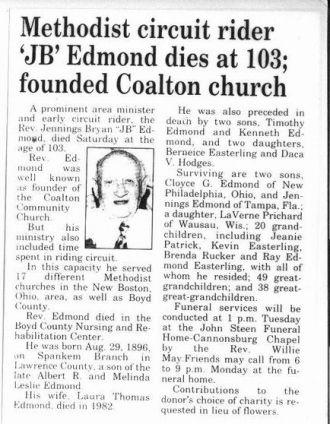 Obit J B Edmond