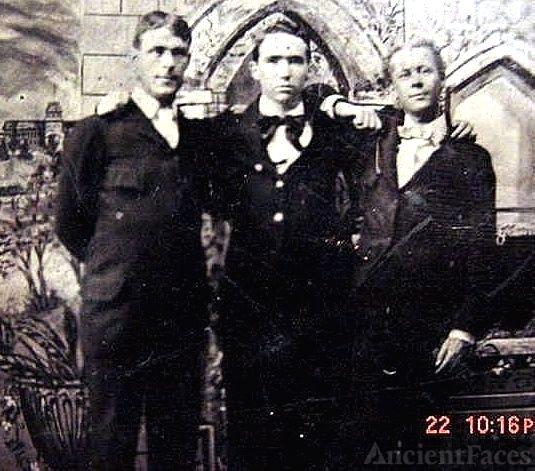 Three Young Men, Charleston, SC