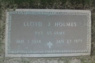 Lloyd J. Holmes gravesite