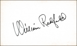 William Redfield Autograph
