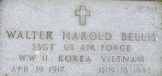 Walter Harold Bellis Tombstone - Wood National Cemetery