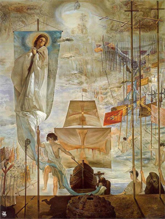 Discovery of America by Dali.