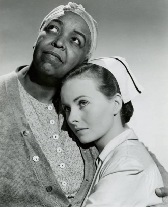 "Ethel Waters and Jeanne Crain in ""Pinky."""