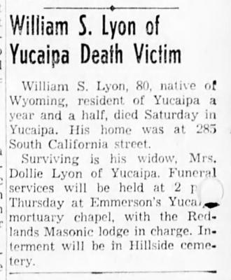 death of 1st Husband