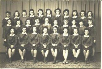 Scotland High Pep Squad 1945