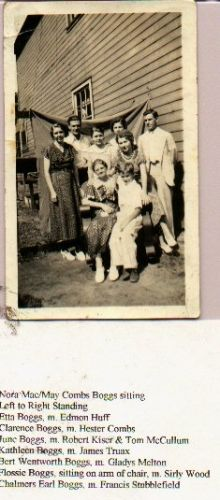Nora Mae Coombs Boggs & Family